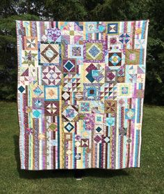 Gypsy Wife Quilt Purple Brown Teal Green by TorchlightCreations