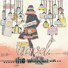 Travelogue_by Cynthia Taylor/MrsPeel using products from The Lilypad.com