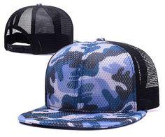 Camo Mesh Snapback Trucker Hat
