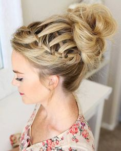 Long Wedding & Prom Hairstyles via Missysueblog / http://www.deerpearlflowers.com/wedding-prom-hairstyles-for-long-hair/3/