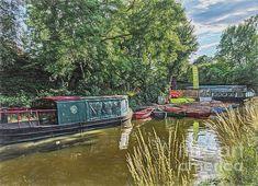 Great Britain, Digital Art, Boat, Wall Art, Image, Dinghy, Boats, Wall Decor