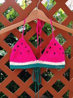 Watermelon Crochet Top