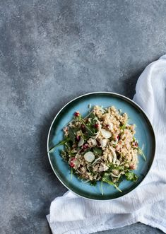 Fennel Salad with Ancient Grains and Pomegranate Seeds | The Full Helping