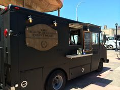 The concept behind the Black Market Food Truck is one that we love. Coffee Food Truck, Pizza Food Truck, Best Food Trucks, Food Truck Business, Food Truck Design, Food Design, Converted Horse Trailer, Starting A Food Truck, Coffee Trailer