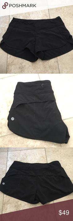 Lululemon Runswift shorts. Color Black. Size 4 Lululemon Runswift shorts. Color Black. Size 4 77% Nylon 23% Lycra Spandex. lululemon athletica Other