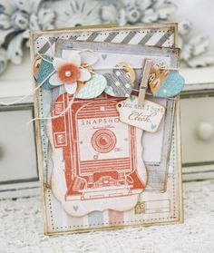 You And I Just Click Card by Melissa Phillips for Papertrey Ink (July 2012)