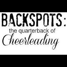 I was a back spot when I cheered in high school. AND I love throwing the football. Soo...:)