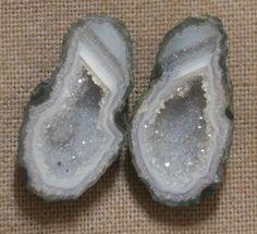 Tabasco Geode 1 Pair Cut and Polished Great for Jewelry 66194
