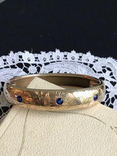 Victorian/Edwardian Rolled Gold Bangle Signed