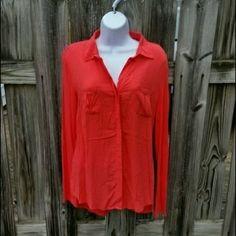 Converse buttondown blouse Size Medium, worn but perfect condition. Converse Tops Button Down Shirts