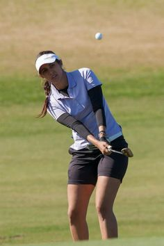 Paula Hurtado, wearing our lilac polo and black compression top combination on her way to a Ladies European Tour Card for 2013!