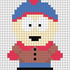 South Park Stan Marsh Hama Bead  / Cross-stitch pattern