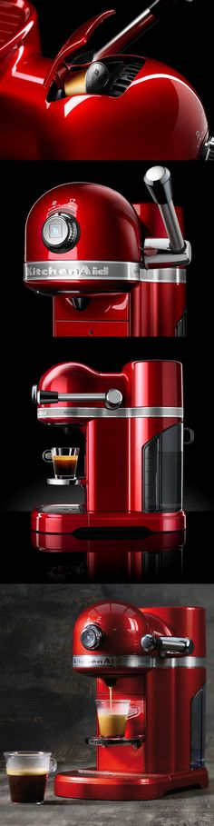 DESIGN MEETS TASTE The KitchenAid Artisan Nespresso Machine - an unrivalled match of two premium brands combining to result in the ultimate capsule coffee machine.  #coffee #Nespresso #KitchenAid