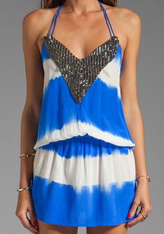 wow! blue and white dyed dress. so pretty #tie_dye