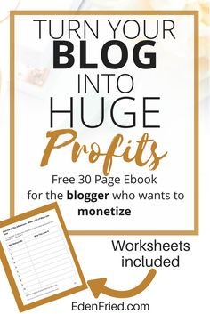 Free EBOOK for people who want get a blog started and monetized quickly and effectively. Worksheets included!