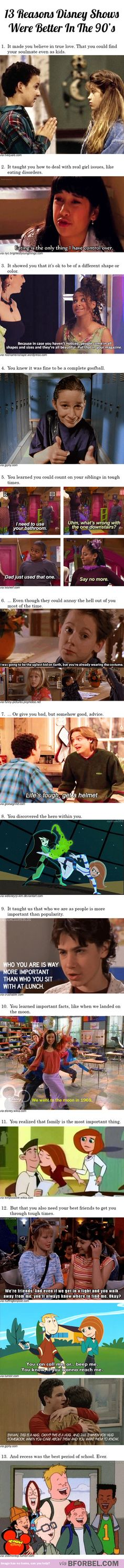 13 reasons Disney shows were better in the 90′s…