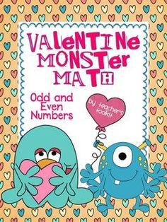 {Freebie!} Valentine Monster Math Odd and Even Numbers
