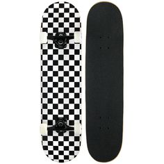 KPC Pro Skateboard Complete Black and White Checker *** To view further for this item, visit the image link. (This is an affiliate link) Painted Skateboard, Vans Skateboard, Pro Skateboards, Skateboard Deck Art, Complete Skateboards, Skateboard Design, Skateboards For Girls, Complete Longboards, Skateboard Tumblr