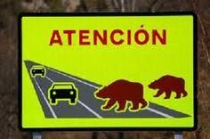 Señal de tráfico en Asturias
