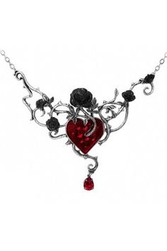 I want!!!! If I had cool jewelry like this, I wouldnt wear the same thing every day! Bed Of Blood Roses Pendant by Alchemy of England