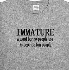 Immature But Fun Men's T Shirt Men's Funny T by MangoMongoTees, $19.95