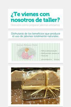 ¿Te vienes con nosotros de taller? Cartel para el taller de Jabones Evelia en el Hotel Coto del Pomar del 26 de octubre de 2013