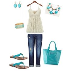 Summer lovin by redsoxgrl-1 on Polyvore featuring polyvore, fashion, style, Seafolly, Tory Burch and Liz Claiborne