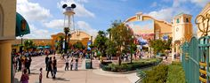 Earful Tower and entrance of Front Lot in Walt Disney Studios Park