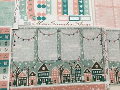 Winter Is Here weekly planner kit9 sheets of от MrsSarahsShop