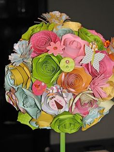Paper Flower Bouquet - Wedding