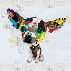 #120805 <br> Short Hair Chihuahua <br> Canvas Art Print