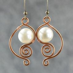 copper wiring pearl dangle earrings handmade ani designs - inexpensive jewelry, purchase jewellery online, fun jewelry *sponsored https://www.pinterest.com/jewelry_yes/ https://www.pinterest.com/explore/jewelry/ https://www.pinterest.com/jewelry_yes/custom-jewelry/ https://www.helzberg.com/category/jewelry.do