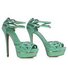 Le silla Edgy Shoes, Dark Blue Green, Tiffany Blue, Tahiti, Green Colors, Heels, Shopping, Fashion, Chairs