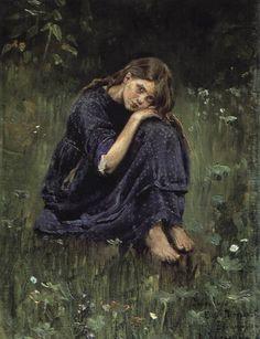 Vasnetsov Viktor Mikhailovich (1848 � 1926)  Alyonushka, 1881  Study for the painting