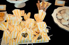 DIY dessert bags handstamped.