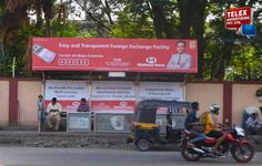 Muthoot finance campaign done by Telex Advertising, bus shelter  at Majiwada,Thane.