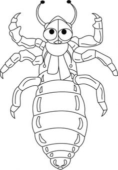 Serpentine scorpion coloring pages Download Free Serpentine
