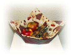 Käthes Nähstunde DIY weihnachtliches Wendekörbchen Nähen für Anfänger
