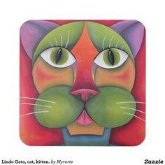 Lindo Gato, cat, kitten. Regalos, Gifts. #posavaso #coaster