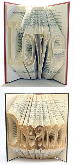 Leuk gedaan met oude boeken.