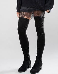 River Island | River Island Faux Suede Thigh High Boot