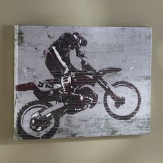 Dirt Biker Wall Art   PBteen