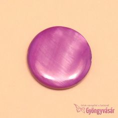 Lila, 20 mm-es korong - kagylógyöngy • Gyöngyvásár.hu Lilac