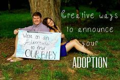 Tons of fun ways to announce your adoption plans! #adoption #annoucement
