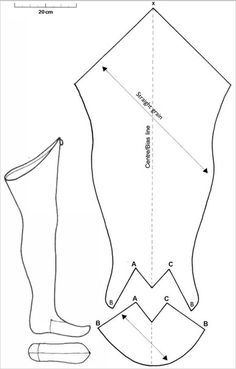 Terra Teutonica & # s photos – photos Costume Patterns, Doll Clothes Patterns, Clothing Patterns, Costume Viking, Medieval Costume, Sewing Hacks, Sewing Tutorials, Medieval Pattern, Patron Vintage
