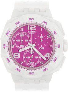 Swatch Originals Chrono Pink Purity Unisex Watch @}-,-;--