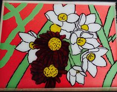 Backward glass painting design by grade 7 student