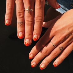 Rock Nails, Fire Nails, Snail Art, Fish Tattoos, Manicure, Nude, Beauty, Beautiful Hands, Ongles