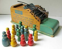 Vintage Holgate Toys, Wooden Old Woman Who Lived in a Shoe