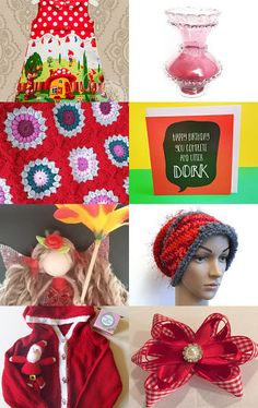 Vibrant reds  by Wendys Wedding Corner on Etsy--Pinned with TreasuryPin.com